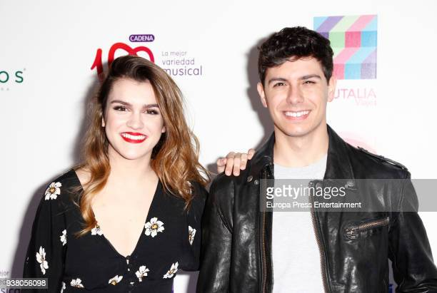 Amaia Romero and Alfred Garcia attend 'La Noche De Cadena 100' charity concert at WiZink Center on March 24 2018 in Madrid Spain