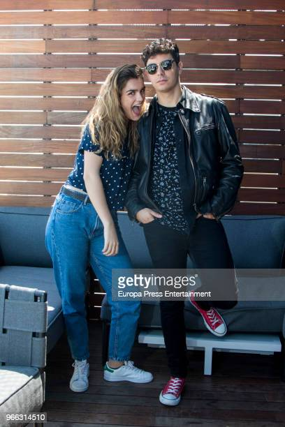 Amaia Romero and Alfred Garcia of Spain are seem with fans some days before taking part at 2018 Eurovision Song Contest on May 10 2018 in Lisbon...