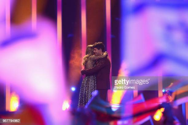 Amaia Romero and Alfred Garcia representing Spain perform at Altice Arena on May 12 2018 in Lisbon Portugal