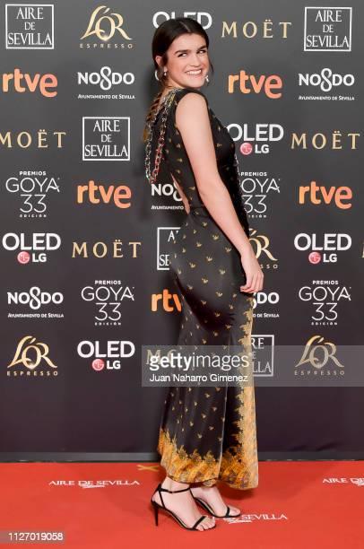 Amaia Romero attends the Goya Cinema Awards 2019 during the 33rd edition of the Goya Cinema Awards at Palacio de Congresos y Exposiciones FIBES on...