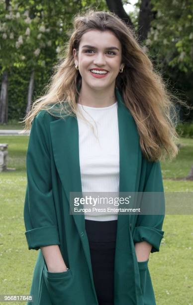 Amaia Romero of Spain visits the Spanish Embassy some days before taking part at 2018 Eurovision Song Contest on May 9 2018 in Lisbon Portugal
