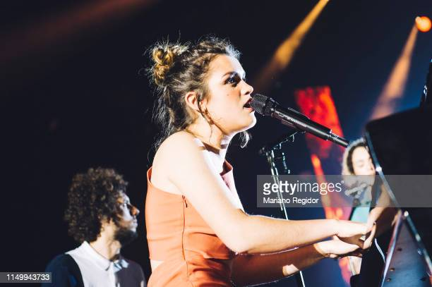 Amaia Romero performs on stage during LOS40 Primavera Pop festival at Madrid WiZink Center on May 17 2019 in Madrid Spain