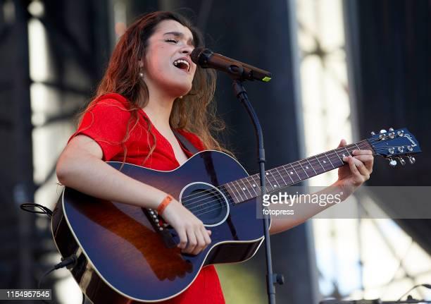 Amaia Romero performs onstage during Festival de les Arts at Ciudad de las Artes y las Ciencias on June 7 2019 in Valencia Spain