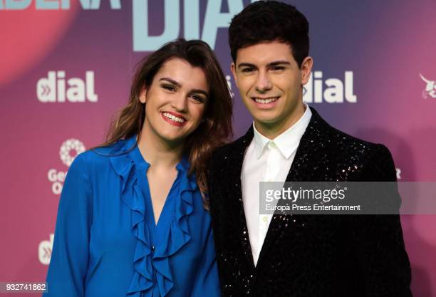 Amaia Romreo and Alfred Garcia attend the 'Cadena Dial' Awards 2018 red carpet on March 15 2018 in Tenerife Spain