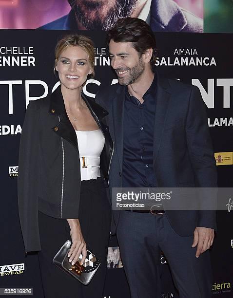 Amaia Salamanca and Eduardo Noriega attend the 'Nuestros Amantes' premiere at Palafox cinema on May 30 2016 in Madrid Spain