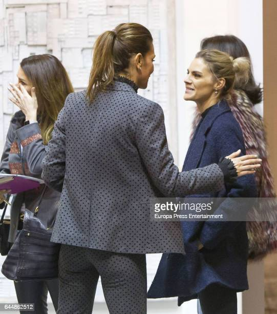 Amaia Salamanca and Mar Flores attend the International Contemporary Art Fair ARCO 2017 at Ifema on February 22 2017 in Madrid Spain