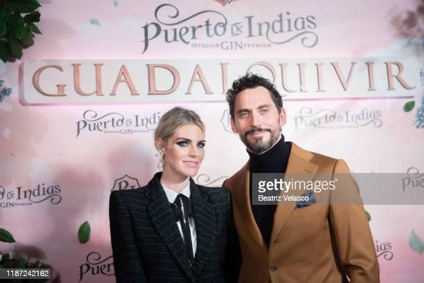 Amaia Salamanca and Paco León attend 'Guadalquivir Puerto de Indias' presentation at Ramses Restaurant on November 12 2019 in Madrid Spain