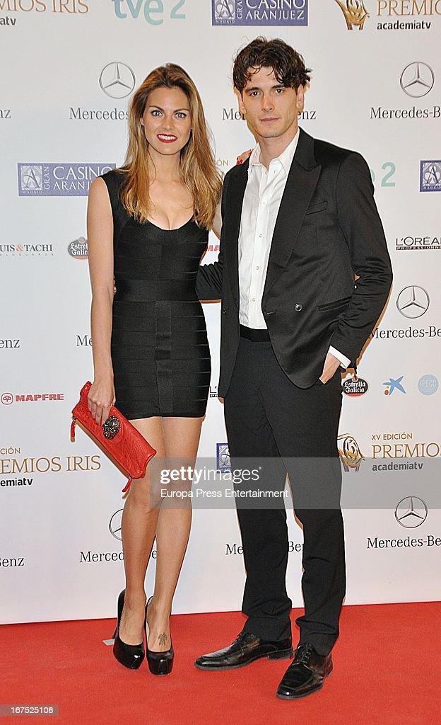 Amaia Salamanca and Yon Gonzalez attend Iris Awards 2013