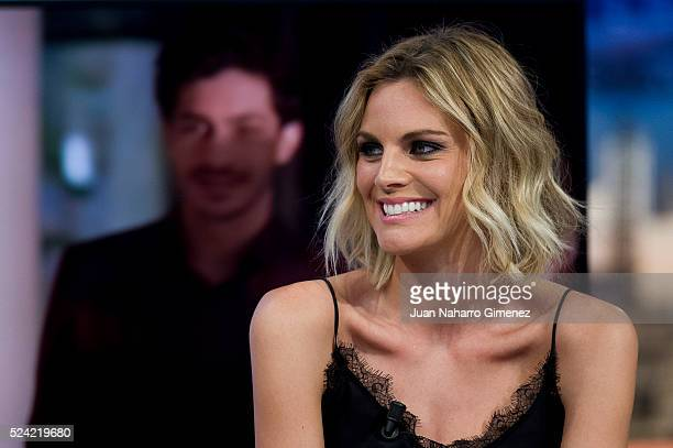 Amaia Salamanca attends 'El Hormiguero' Tv show at Vertice Studio on April 25 2016 in Madrid Spain