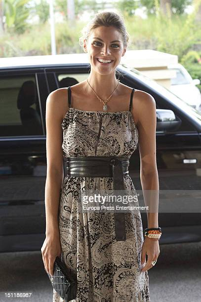 Amaia Salamanca attends her brother's wedding at Club De Playa Puro Beach on September 1 2012 in Benalmadena Spain