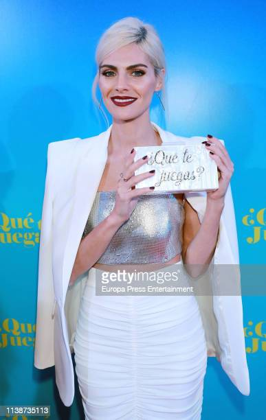 Amaia Salamanca attends 'Que te juegas' premiere at the Capitol Cinema on March 27 2019 in Madrid Spain