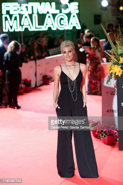 Amaia Salamanca attends '¿Que Te Juegas' premiere at the Cervantes Theater during the 22nd Malaga Film Festival on March 21 2019 in Malaga Spain