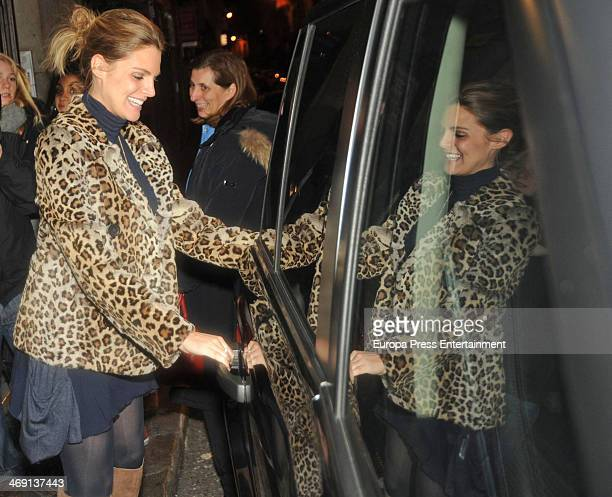 Amaia Salamanca attends the birthday party of Israel Bayon on January 23 2014 in Madrid Spain