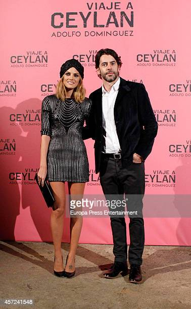 Amaia Salamanca o Eduardo Noriega present 'Viaje a Ceylan' the new fragance by Adolfo Dominguez on October 14 2014 in Madrid Spain