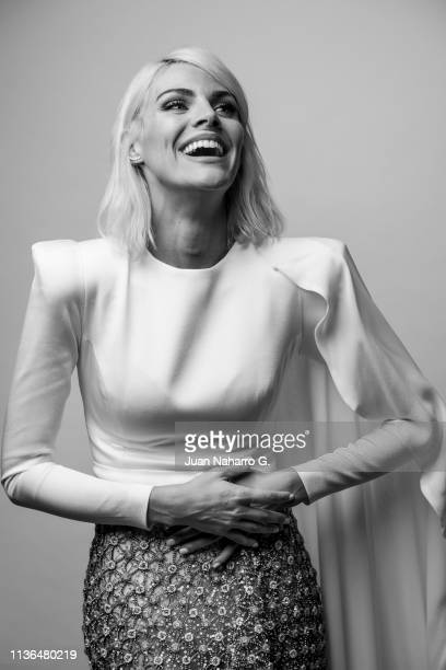 Amaia Salamanca poses for a portrait session at Teatro Cervantes during 22nd Spanish Film Festival of Malaga on March 16 2019 in Malaga Spain