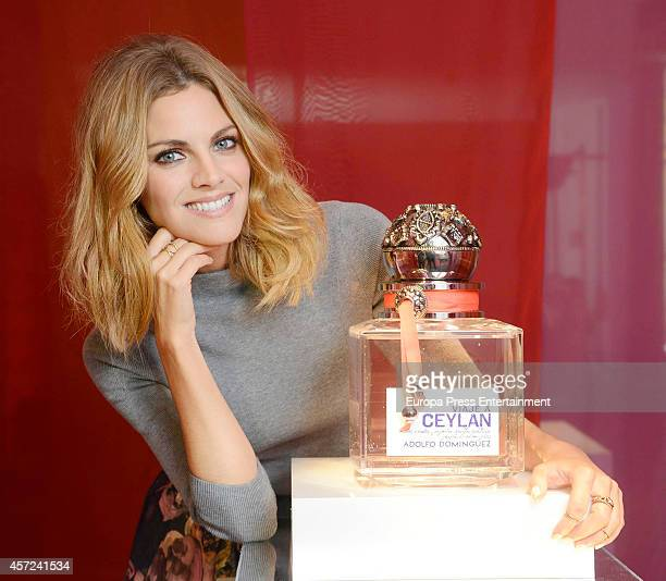 Amaia Salamanca presents 'Viaje a Ceylan' the new fragance by Adolfo Dominguez on October 14 2014 in Madrid Spain