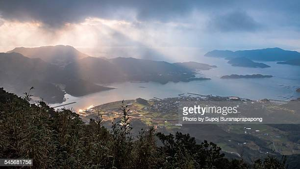 amakusa viewpoint on the mountain - 熊本県 ストックフォトと画像