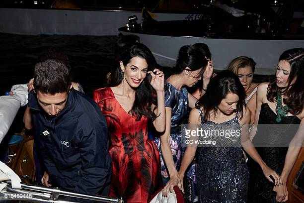 Amal Alamuddin at the George Clooney and Amal Alamuddin Wedding on September 26 2014 in Venice Italy