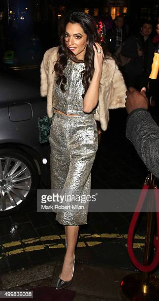 Amal Alamuddin attending Charlotte Tilbury's naughty Christmas party celebrating the launch of Charlotte's new flagship beauty boutique in Covent...