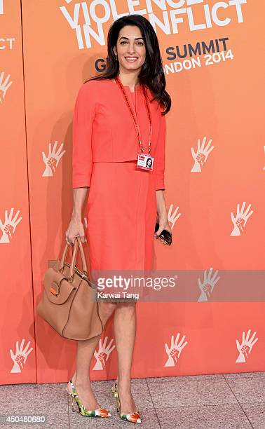 Amal Alamuddin attends the Global Summit to end Sexual Violence in Conflict at ExCel on June 12 2014 in London England