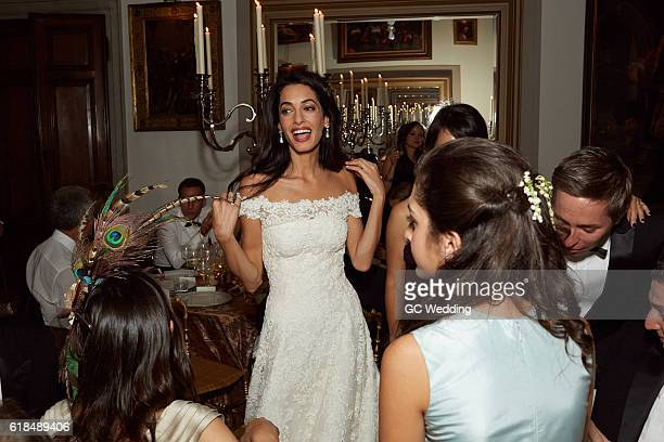Amal Alamuddin during the George Clooney and Amal Alamuddin Wedding on September 27 2014 in Venice Italy