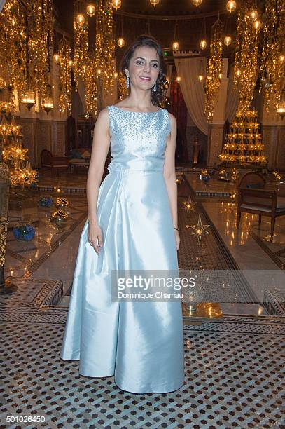 Amal Ayouch attends the Dinner hosted by Dior as part of Marrakech 15th International Film Festival at Hotel Royal Mansour on December 11 2015 in...