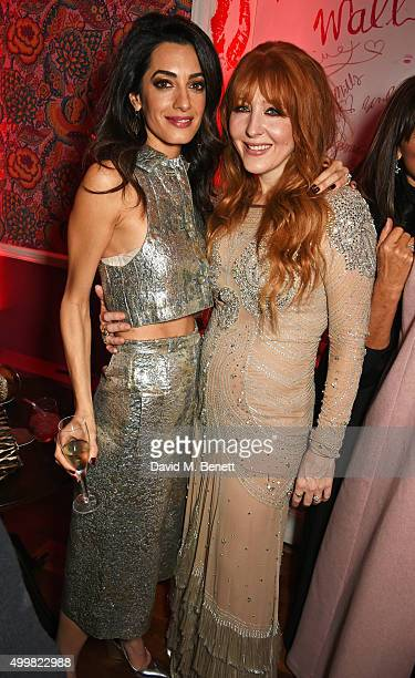 Amal Clooney and Charlotte Tilbury attend Charlotte Tilbury's naughty Christmas party celebrating the launch of Charlotte's new flagship beauty...