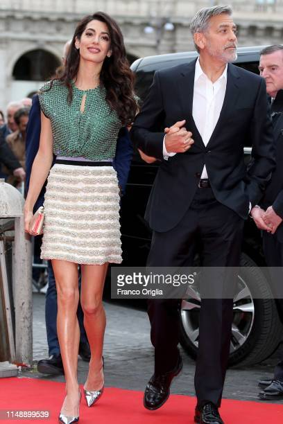 Amal Clooney and George Clooney attend 'Catch22' Photocall a Sky production at The Space Moderno Cinema on May 13 2019 in Rome Italy