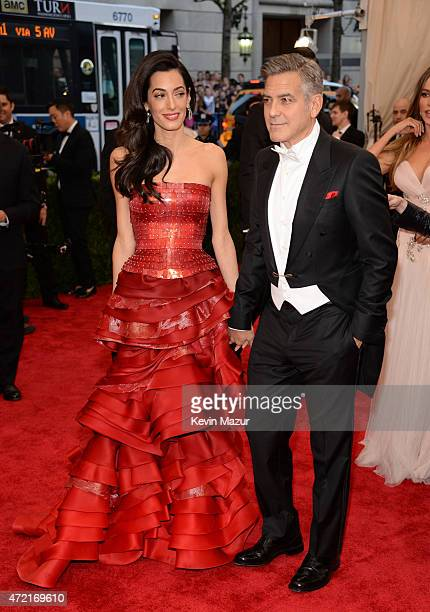 "Amal Clooney and George Clooney attend the ""China: Through The Looking Glass"" Costume Institute Benefit Gala at Metropolitan Museum of Art on May 4,..."