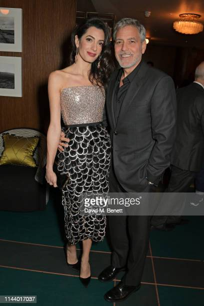 "Amal Clooney and George Clooney attend the London Premiere after party for new Channel 4 show ""Catch-22"", based on Joseph Heller's novel of the same..."