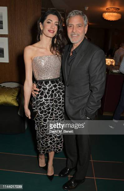 Amal Clooney and George Clooney attend the London Premiere after party for new Channel 4 show Catch22 based on Joseph Heller's novel of the same name...
