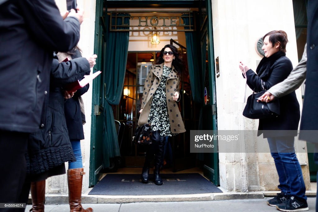 Amal Clooney and Georges Clooney in Paris : News Photo