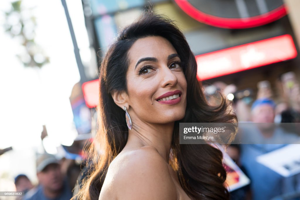 Amal Clooney attends the American Film Institute's 46th Life Achievement Award Gala Tribute to George Clooney at Dolby Theatre on June 7, 2018 in Hollywood, California.