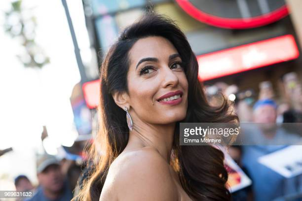 Amal Clooney attends the American Film Institute's 46th Life Achievement Award Gala Tribute to George Clooney at Dolby Theatre on June 7 2018 in...