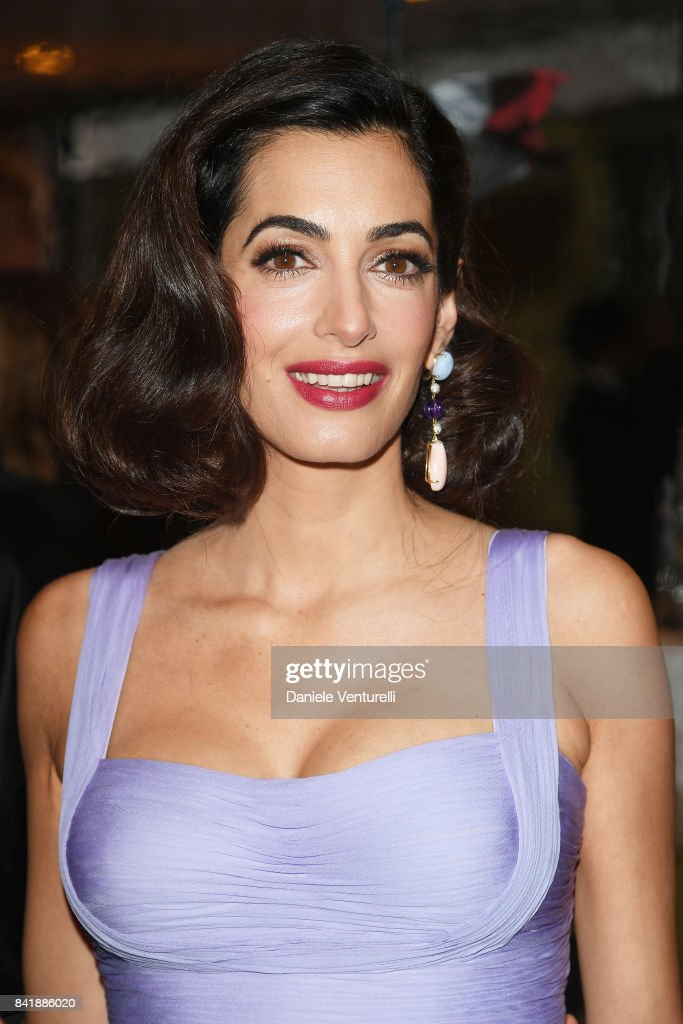 Amal Clooney attends the 'Hollywood Foreign Press Association Cocktail Party' during the 74th Venice Film Festival on September 2, 2017 in Venice, Italy.