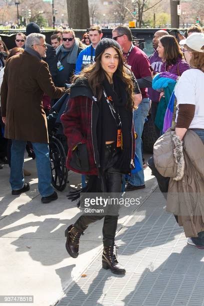Amal Clooney attends the March For Our Lives on March 24 2018 in Washington City