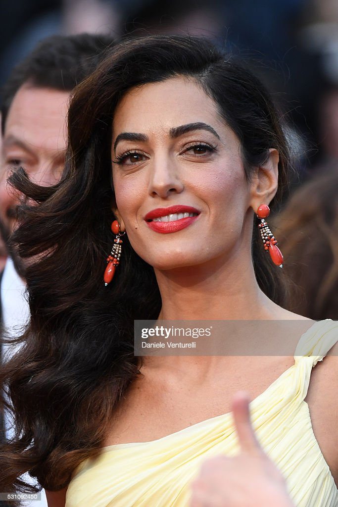 Amal Clooney attends the 'Money Monster' premiere during the 69th annual Cannes Film Festival at the Palais des Festivals on May 12, 2016 in Cannes, .