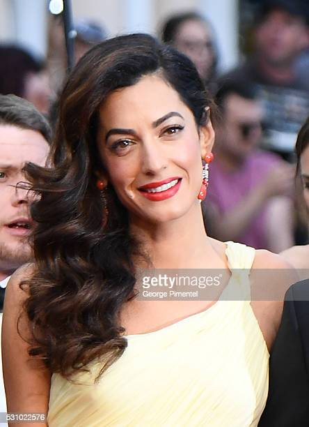 Amal Clooney attends the screening of Money Monster at the annual 69th Cannes Film Festival at Palais des Festivals on May 12 2016 in Cannes France