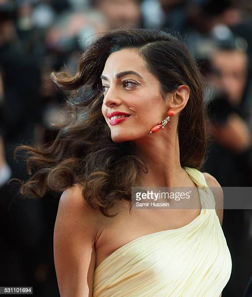 Amal Clooney attends the screening of 'Money Monster' at the annual 69th Cannes Film Festival at Palais des Festivals on May 12 2016 in Cannes France