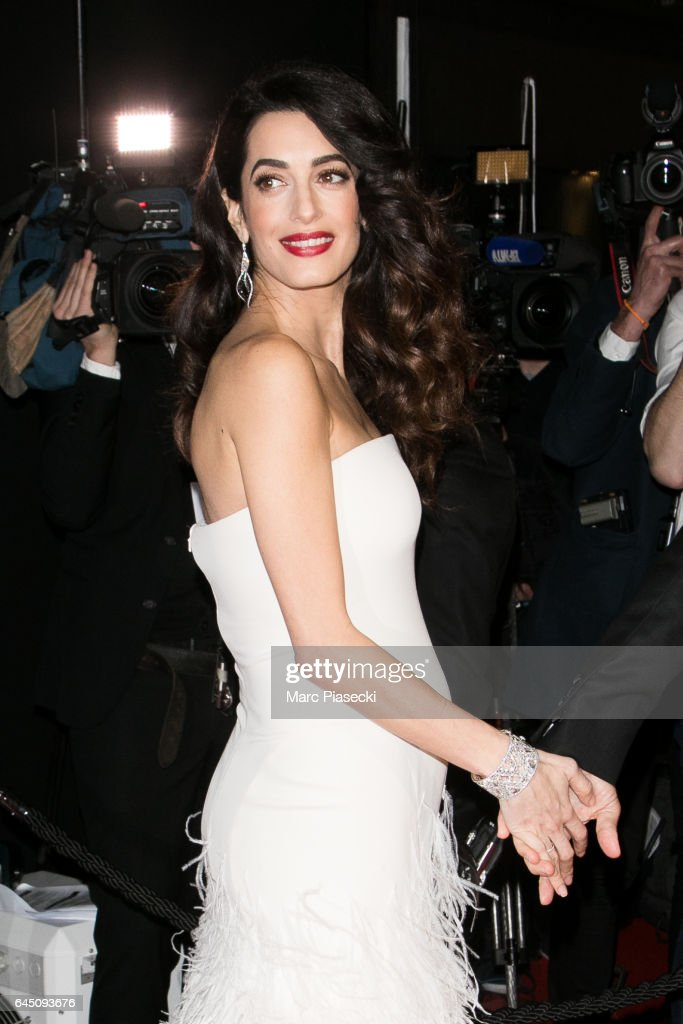 Amal Clooney attends the the Cesar Film Awards 2017 ceremony at Salle Pleyel on February 24, 2017 in Paris, France.