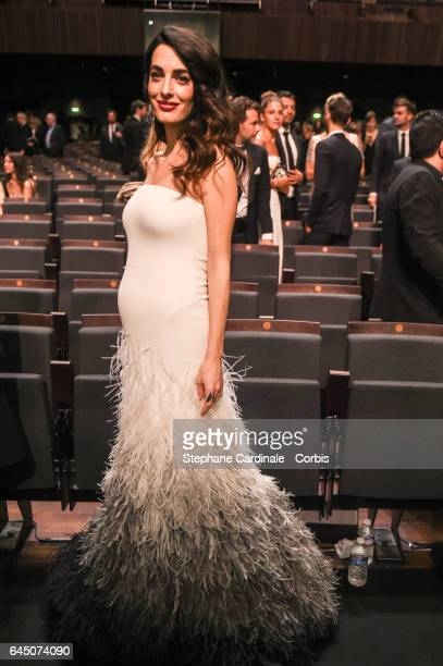 Amal Clooney during the Cesar Film Awards 2017 ceremony at Salle Pleyel on February 24 2017 in Paris France
