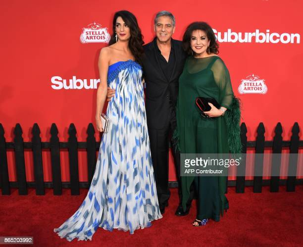 Amal Clooney George Clooney and Baria Alamuddin arrive for the Premiere of Paramount Pictures 'Suburbicon' at the Regency Village Theatre in Westwood...