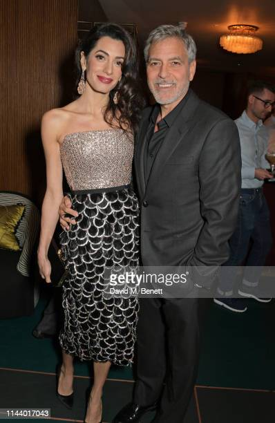 Amal Clooney George Clooney and guest attend the London Premiere after party for new Channel 4 show Catch22 based on Joseph Heller's novel of the...