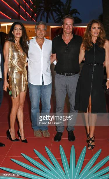 Amal Clooney George Clooney Rande Gerber and Cindy Crawford attend as Casamigos founders Rande Gerber George Clooney and Mike Meldman host the...