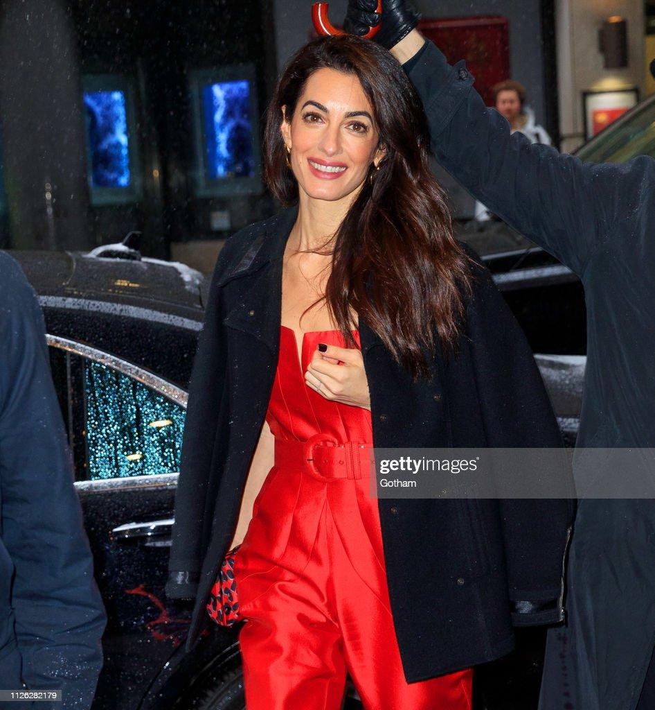NY: Celebrity Sightings In New York City - February 20, 2019