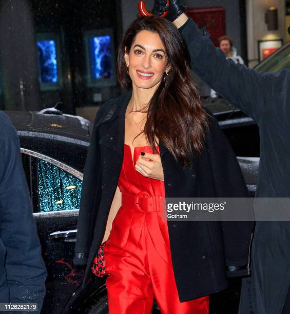 Amal Clooney is seen on February 20 2019 in New York City