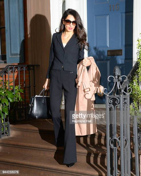 Amal Clooney is seen walking in Soho on April 10 2018 in New York City