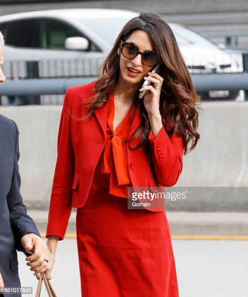 Amal Clooney on September 21 2017 in New York City