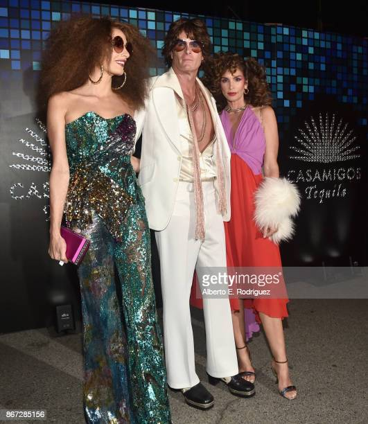 Amal Clooney, Rande Gerber and Cindy Crawford attend Casamigos Halloween Party on October 27, 2017 in Los Angeles, California.