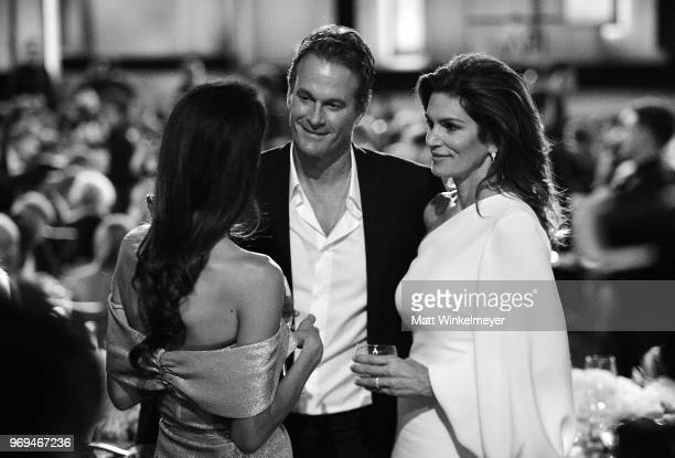Amal Clooney, Rande Gerber, and Cindy Crawford attend the American Film Institute's 46th Life Achievement Award Gala Tribute to George Clooney at...